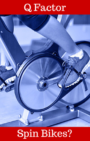 spin bike q factor feet on pedals