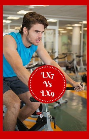 Exerpeutic LX7 vs LX9 Man on Indoor Cycle