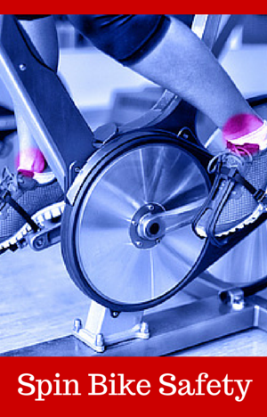are spin bikes safe for home use with womans legs on pedals