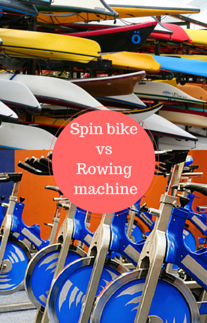 spin bike vs rowing machine indoor cycles and canoes split