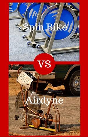 spin bike vs airdyne split picture