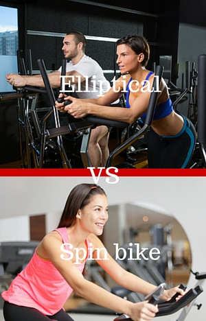 spin bike vs elliptical