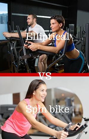 spin bike vs elliptical