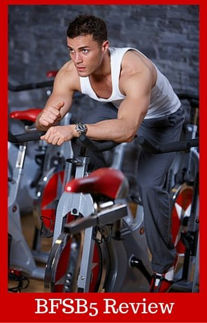 BFSB5 indoor cycling bike review man on bike