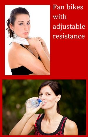 Fan bikeswith adjustable resistance