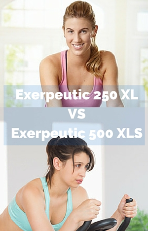 Exerpeutic 250 XL Folding Magnetic Upright Bike vs 500 XLS