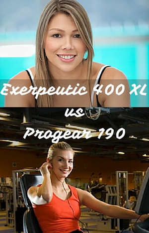 Exerpeutic 400 XL vs Progear 190