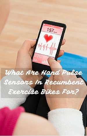 What Are Hand Pulse Sensors In Recumbent Exercise Bikes For? App on phone