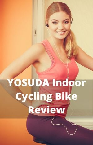 YOSUDA Indoor Cycling Bike Stationary Review with girl on exercise bike